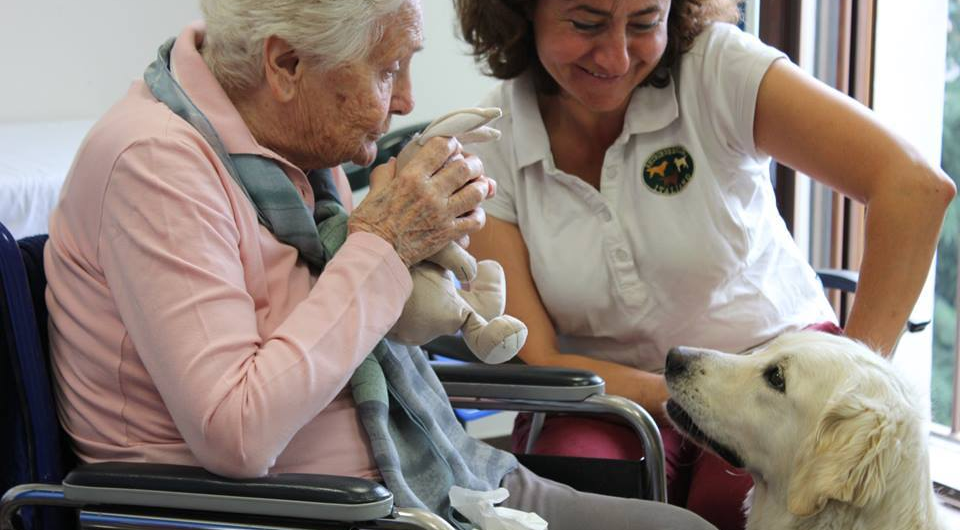 Anziana con cane
